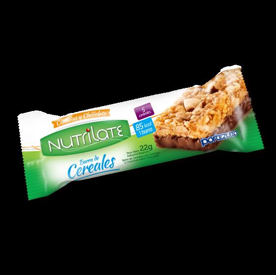 barra de cereal castañas y chocolate