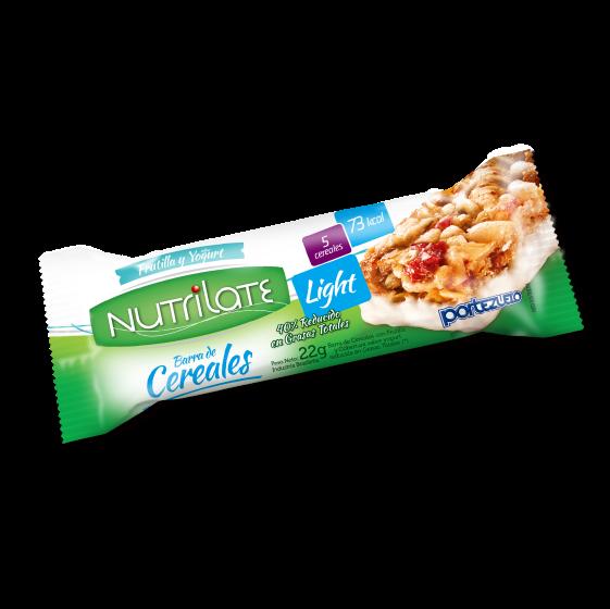 barra de cereal frutilla y yogurt