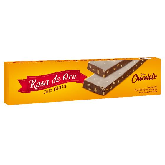 Nougat de maní chocolate Rosa de Oro