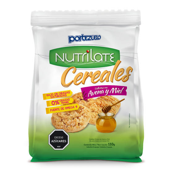 Galleta nutrilate avena y miel